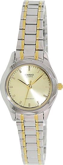 CASIO 19032 LTP-1275SG-9A -Reloj Señora Cuarzo Brazalete metálico dial Dorado: Casio: Amazon.es: Relojes