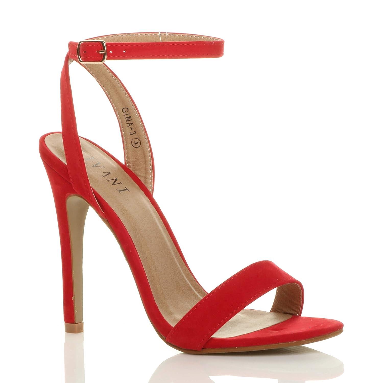 Femmes Haute Talon fête Daim à Boucle Peine fête là Boucle lanières Sandales Chaussures Pointure Rouge Daim 7cd7307 - shopssong.space