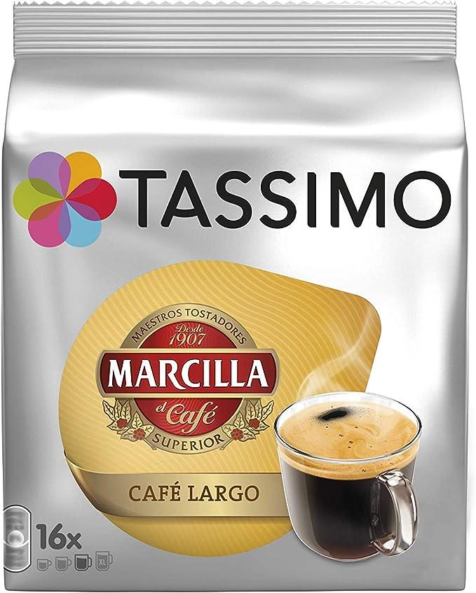Tassimo Marcilla Café Largo - Capsulas, 16 unidades: Amazon.es ...