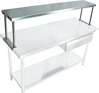 "product image for John Boos OS-ES-1248 Stainless Steel 430 Economy Overshelf, Single, 48"" Length x 12"" Width"