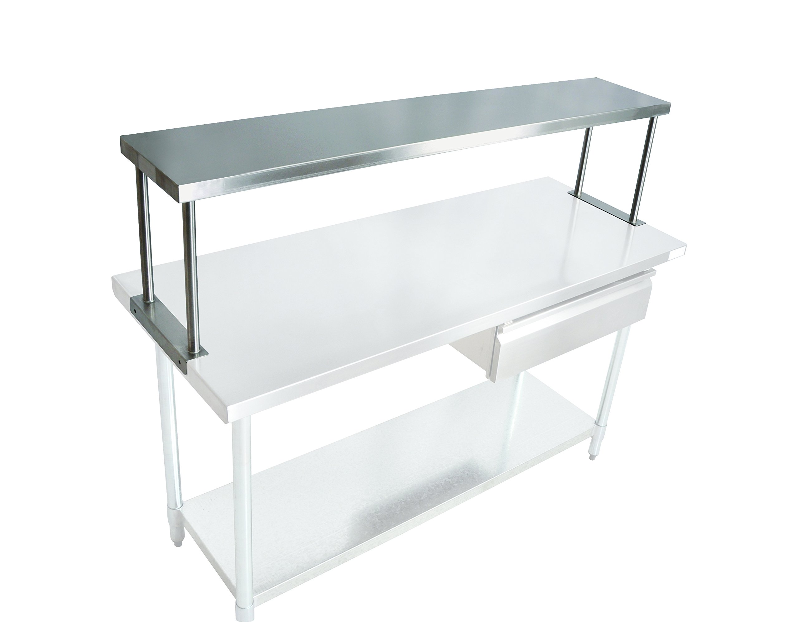 John Boos OS-ES-1248 Stainless Steel 430 Economy Overshelf, Single, 48'' Length x 12'' Width