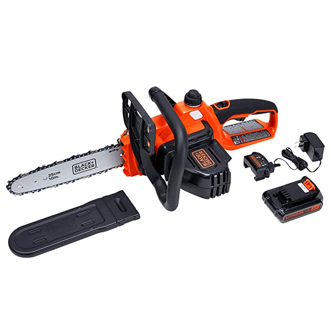 best battery chainsaw: BLACK+DECKER LCS1020 - another great option for lumberjacks