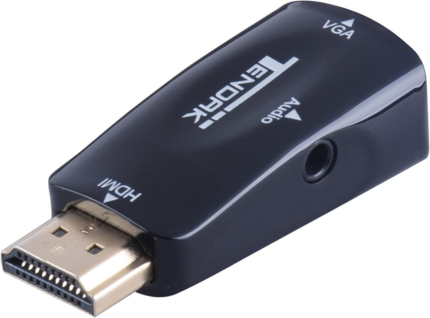 Tendak Gold-Plated Active HD 1080P HDMI to VGA Converter Adapter Dongle with 3.5mm Audio for Laptop PC Projector HDTV PS3 Xbox STB Blu-ray DVD