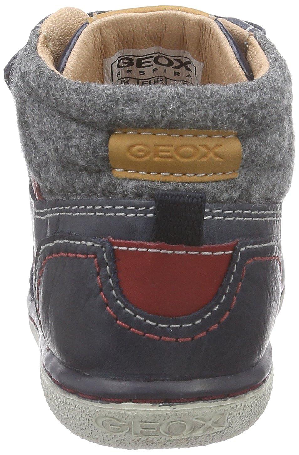 Geox B Flick Boy B - Zapatillas de cuero para niño, Azul (c4075dk navy/red), 26: Amazon.es: Zapatos y complementos