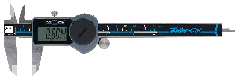 0 to 6 Range 0.0005 Resolution Square Depth Rod Wireless Data Port Brown /& Sharpe 00590093 Twin-Cal IP40 Digital Caliper