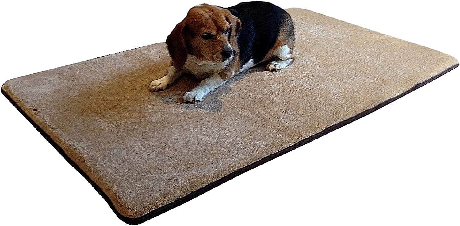 Dogbed4less Gel Infused Memory Foam Pet Dog Bed Mat For Large Dogs With Waterproof Anti Slip Bottom Xxl Large 54 X37 Crate Size Pet Supplies