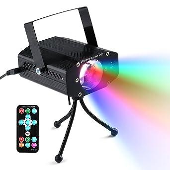 LederTEK LED Farbwechsel Ozean Wellen Effekt 7 RGB Farbe DJ Lichter  Nachtlicht Projector Party Lampe Discolicht