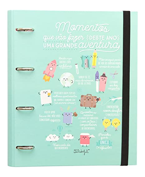 "Mr. Wonderful WOA03715PT - Carpeta con anillas (contenido en portugués, diseño""Momentos"