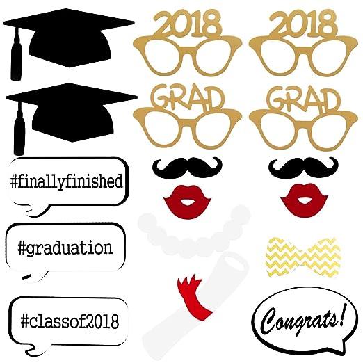 LUOEM Accesorios Photocall Graduación Class 2018 Graduación Cabina ...