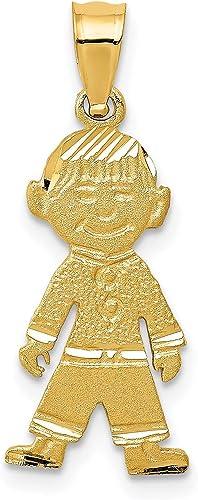 Small Boy Charm Pendant Yellow Gold!!