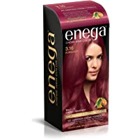 enega No Ammonia Cream Hair Color with Argan Oil and Green Tea Extract (Burgundy 3.16, 100 ml Each)