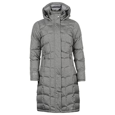 4dee5f8fb1a5 Karrimor Womens Long Down Jacket Chin Guard Hooded Full Zip  Amazon.co.uk   Clothing