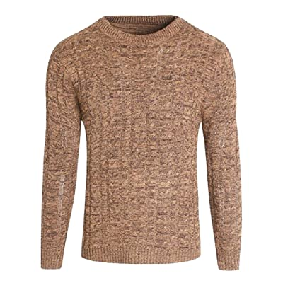 003dfab027 Abetteric Men Slim Fit Scoop Neck Long-Sleeved Sweater Outwear Pullover