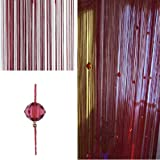 FUT String Tassel Crystal Beads Curtain, Partition Door Curtain Beaded String Curtain Door Screen Panel Home Decor Divider fo