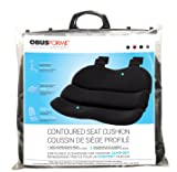 ObusForme Black Contoured Seat Cushion, Hold Pelvis And Hips In A Balanced Position, High-Density Foam For Superior Comfort, Flexible Support Panel To Evenly Distributes Body Weight