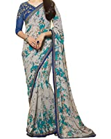 Attire Design Women's Fancy Clothing Saree Collection in Multi-Colored Georgette For Women Party Wear,Wedding Wear,Festival Wear With Blouse Piece Saree