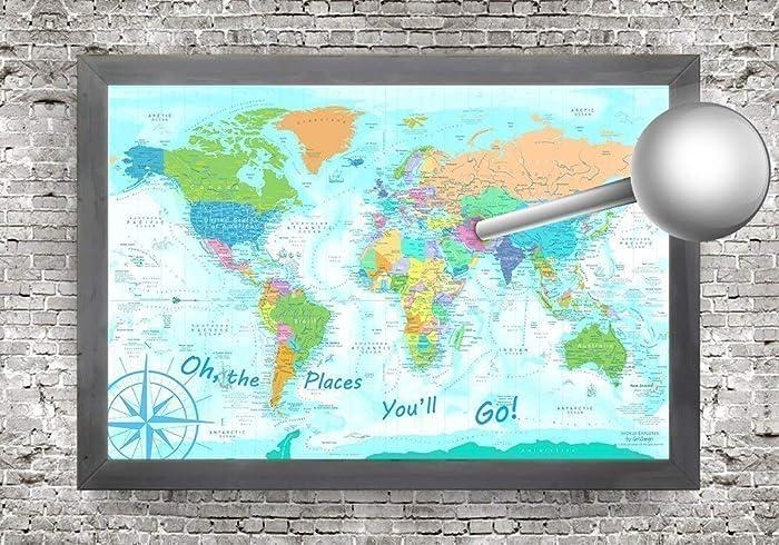 Large World Map Amazon.Amazon Com Push Pin World Map Explorer 1 World Map Large World