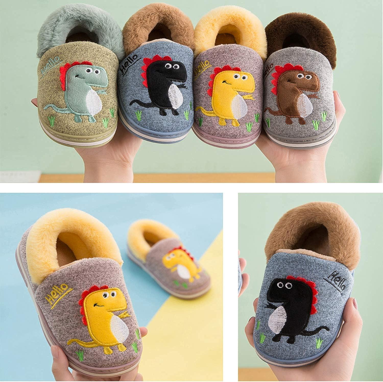 Zapatillas de Estar por Casa para Ni/ños Zapatos Invierno Ni/ñas Pantuflas Dinosaurio Beb/é