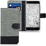 kwmobile Blackview P6000 Custodia Portafoglio - Cover Porta Carte Tessuto Simil Pelle Stand per Blackview P6000 - Case Magnetica