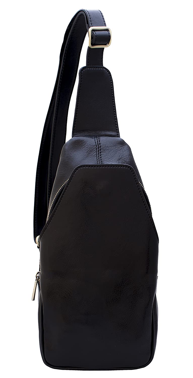 DeFeliceBags Leather Shoulder bag//Chest pack crossbody Asti Dimensions in cm Genuine cowhide leather 18 x 36 x 10