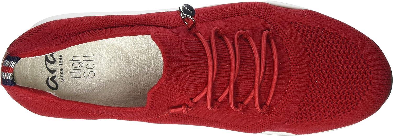 ARA Damen Osaka Sneaker Rot Rot 05