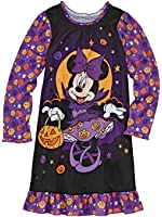 Disney Toddler Girls Black Minnie Mouse Nightgown Halloween Night Gown