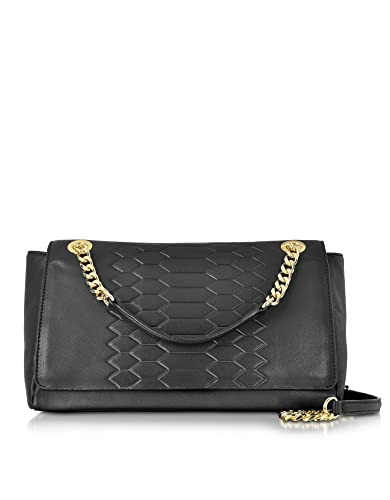 b646aca95a7a Class Roberto Cavalli Designer Handbags Anaconda Black Leather Shoulder  Bag  Amazon.co.uk  Shoes   Bags