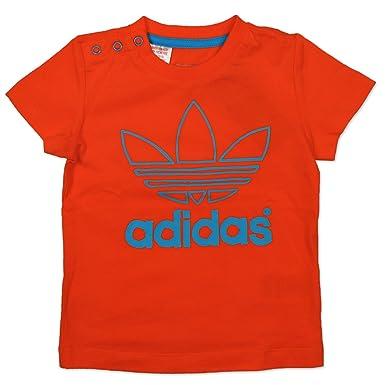 68727ce4b9ed3 adidas - Originals AC Logo Trèfle Bébé Enfants Garçons T-shirt - Orange
