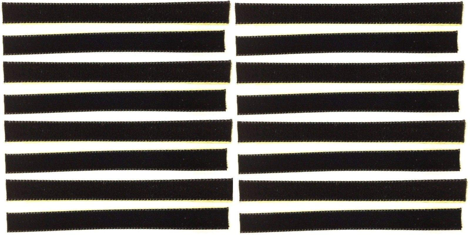 16-Pack of Black Over-Sized VPI Machine/Nitty Gritty/Okki Nokki Replacement LP Vinyl Record Album Cleaning/Cleaner Strips Oversized 3/8'' x 4'' Velvet/Felt/3M Adhesive by Capitol Collectibles