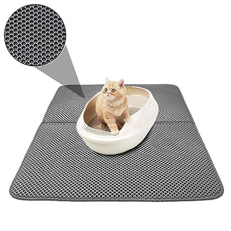 TVMALL Alfombrilla para Gatos, Doble Capa de Panal de Abeja y Gato, Duradera,
