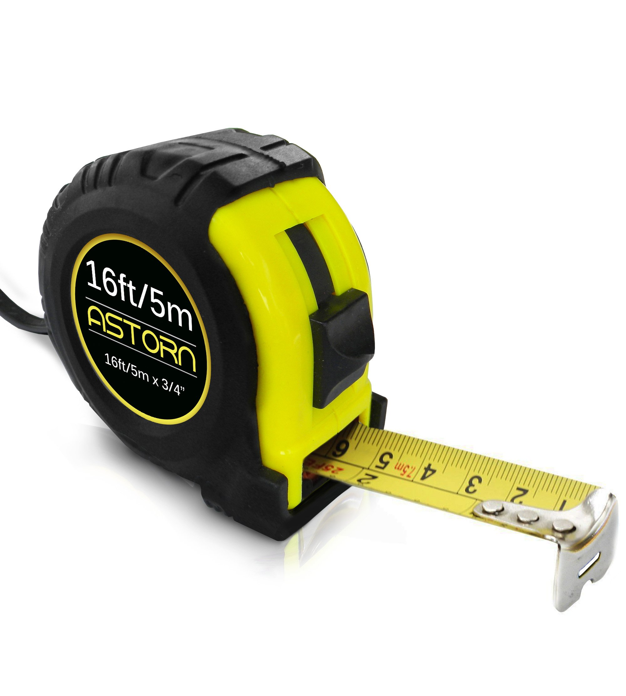 Measuring Tape For Contractors & DIY | Tape Measurer (Cinta Metrica) | Metric & Inches Measuring Tape for Construction | Heavy Duty Tape Measure with Smooth Sliding Nylon Coated Ruler by Astorn by Astorn (Image #1)