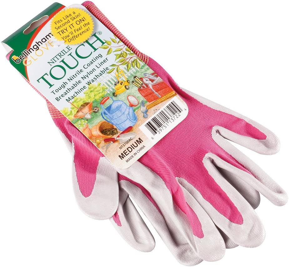 Brussel's Bonsai SPNT3700ACM Medium Nitrile Touch Gardening & Work Gloves