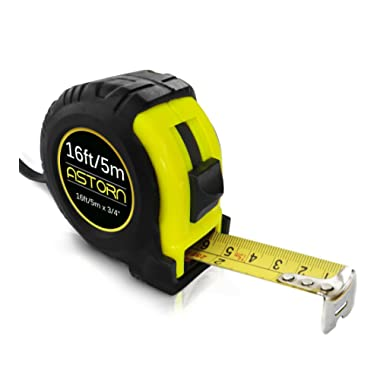 Measuring Tape For Contractors & DIY   Tape Measurer (Cinta Metrica)   Metric & Inches Measuring Tape for Construction   Heavy Duty Tape Measure with Smooth Sliding Nylon Coated Ruler by Astorn