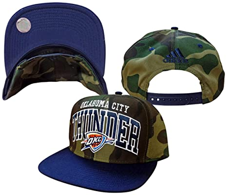 Image Unavailable. Image not available for. Color  Reebok Oklahoma City  Thunder Camouflage Top Adjustable Snapback Hat Cap 3e26572a514f