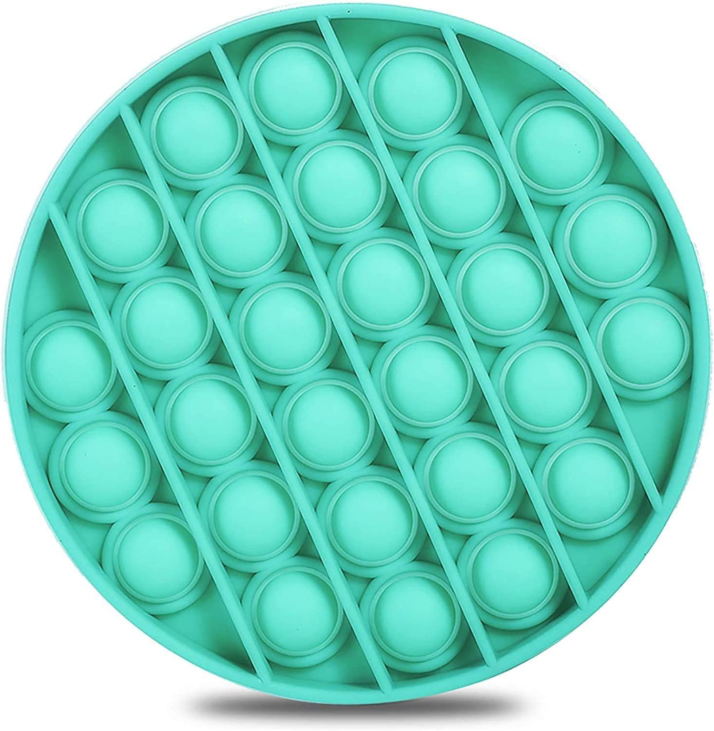 Hanbee Silicona Sensorial Fidget Juguete, Push Pop Bubble Sensory Toy, Autismo Necesidades Especiales Aliviador del Antiestrés del Juguetes para Niños Adultos Relajarse(Verde)