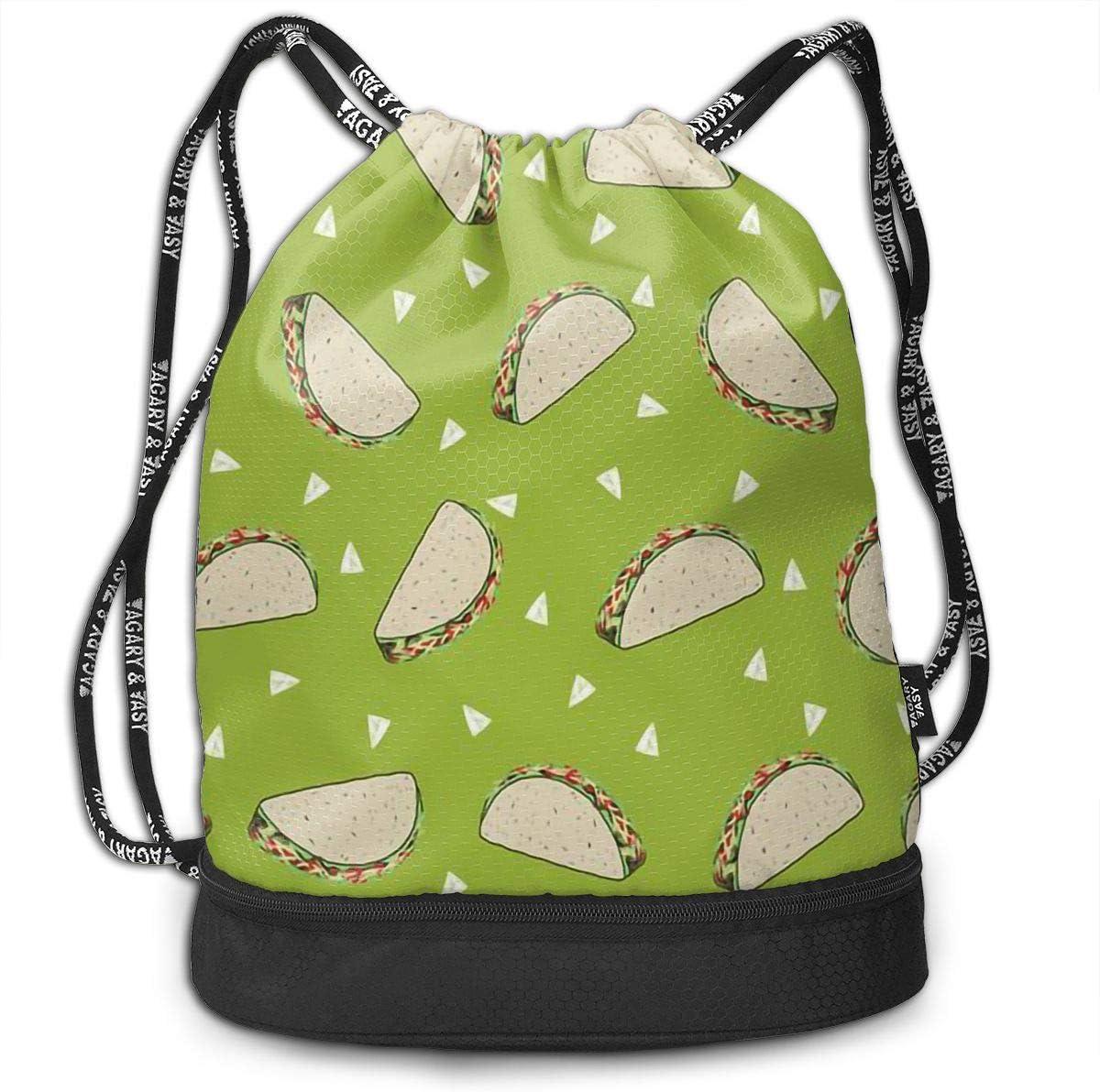 Drawstring Backpack Taco Shoulder Bags