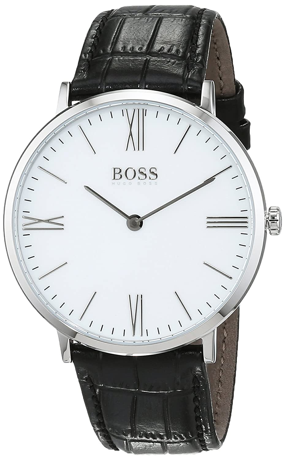 Hugo Boss Jackson White Dial Leather Strap Men S Watch 1513370