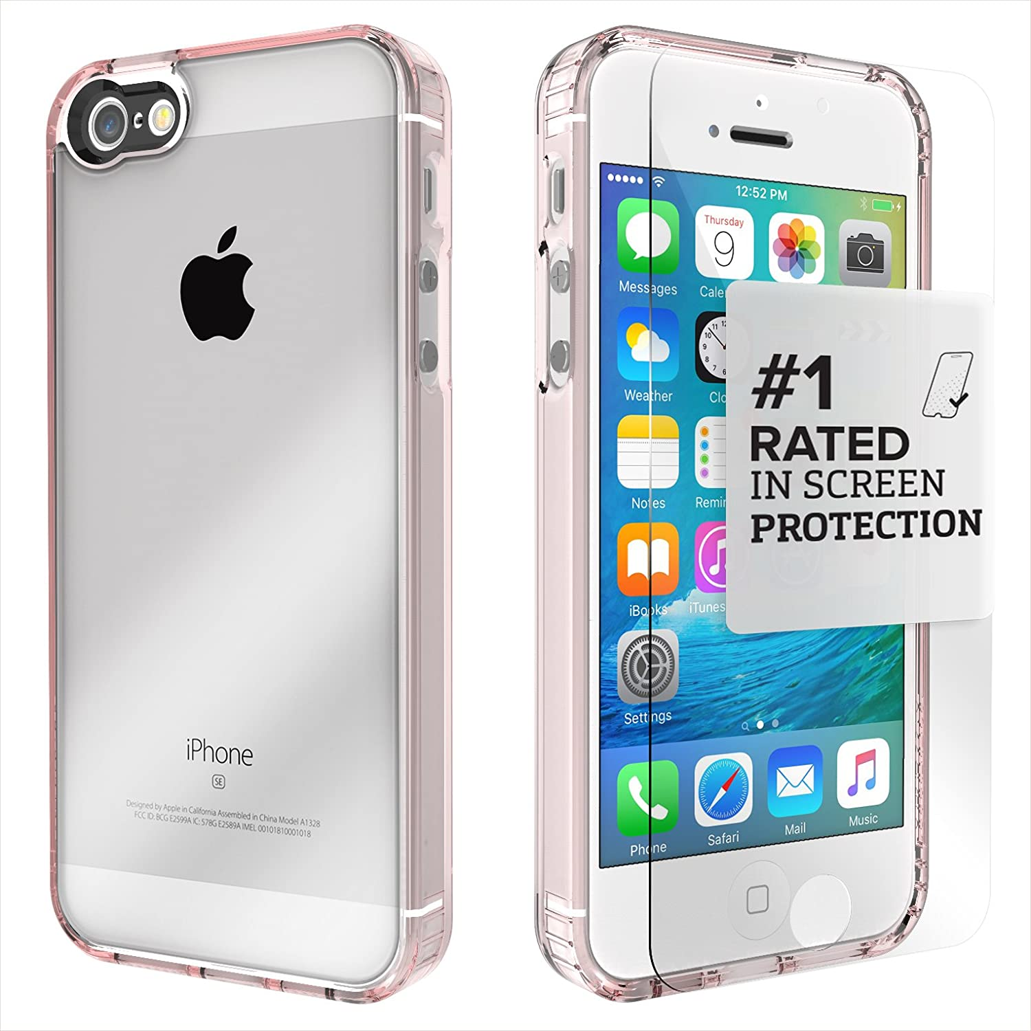 Saharacase iphone 6 6s crystal clear case rose gold edge saharacase - Amazon Com Iphone Se Case Fits Iphone 5s 5 Se Rose Gold Clear Saharacase Protective Kit Bundled With Tempered Glass Screen Protector Slim Fit Rugged