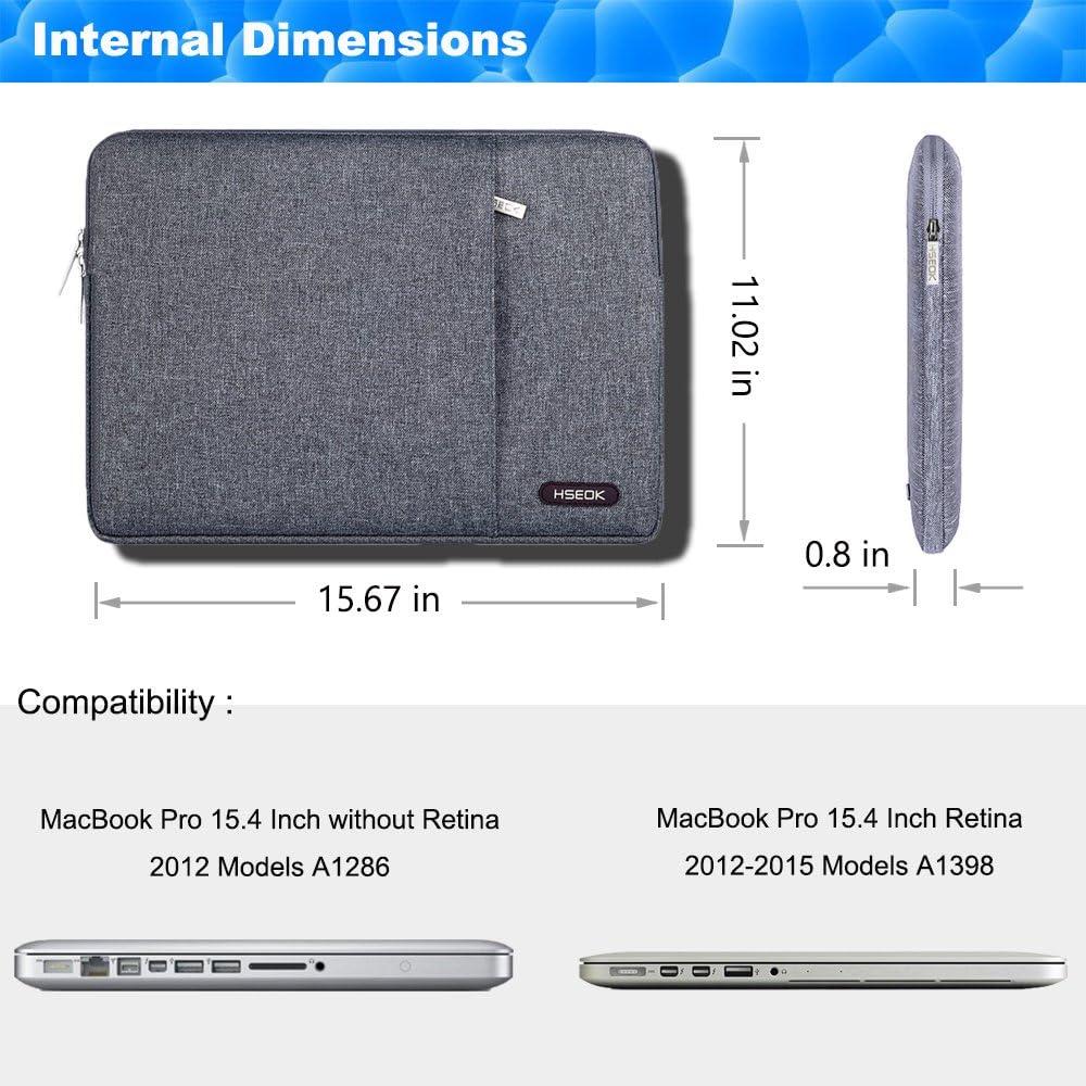 HSEOK 13 Zoll Laptop Sleeve Tasche H/ülle konmatibel mit 2018 MacBook Air 13 mit Retina A1932 13 MacBook Pro A1706//A1708 Schwarz Surface Pro 6 NoteBook Sto/ßfest Wasserdicht Schutzh/ülle XPS 13