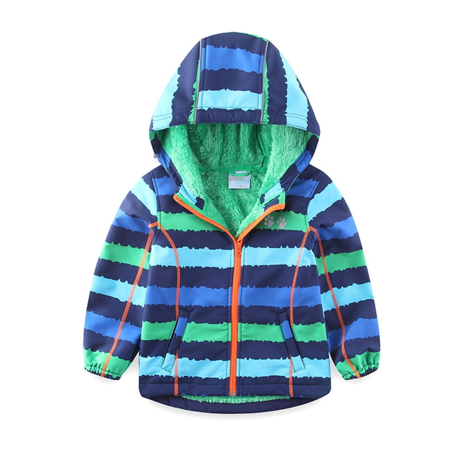 Daniel Galsworthy Windbreaker Jacket for Boys Waterproof with Fleece Lining Soft