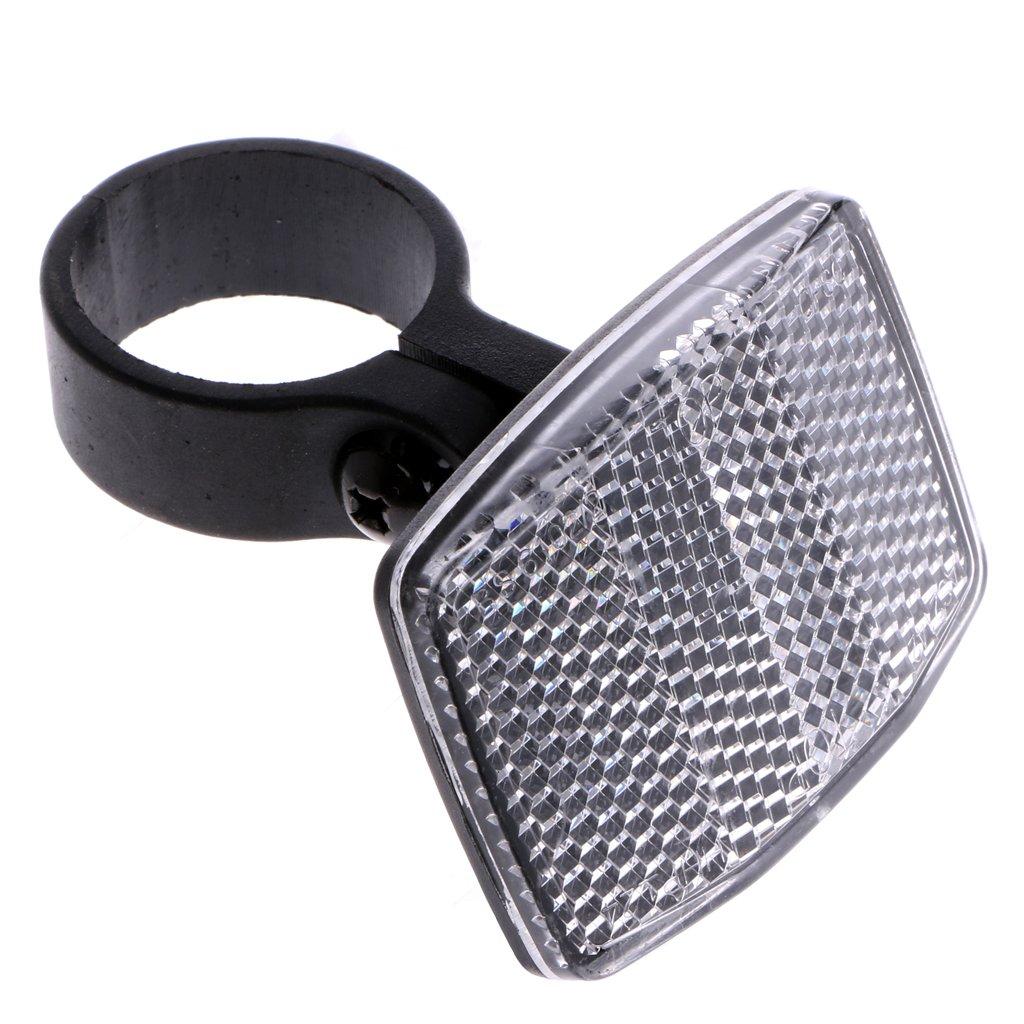 Usdepant Bicycle Handlebar Reflector,Front Rear Warning Safety Light,2 Pcs/ Set (white)