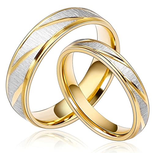 Anillos de matrimonio de plata y oro