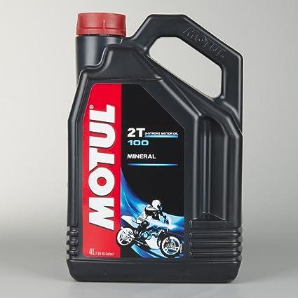 Aceite Mineral Moto - Motul 100 2T, 4 litros: Amazon.es: Coche y moto