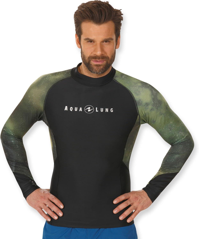Aqua Lung Men's UV Sun Protection Long Sleeve Galaxy Rashguard