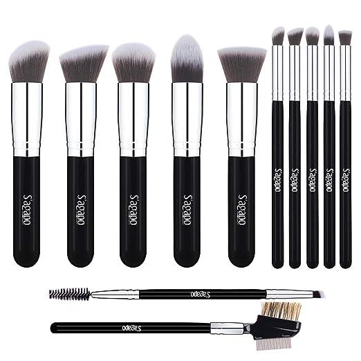 Amazon.com: Best Makeup Brushes set, 12 pcs Professional Premium Cosmetic Tool, eyeshadow & eyeliner & foundation & Lip Brush: Beauty