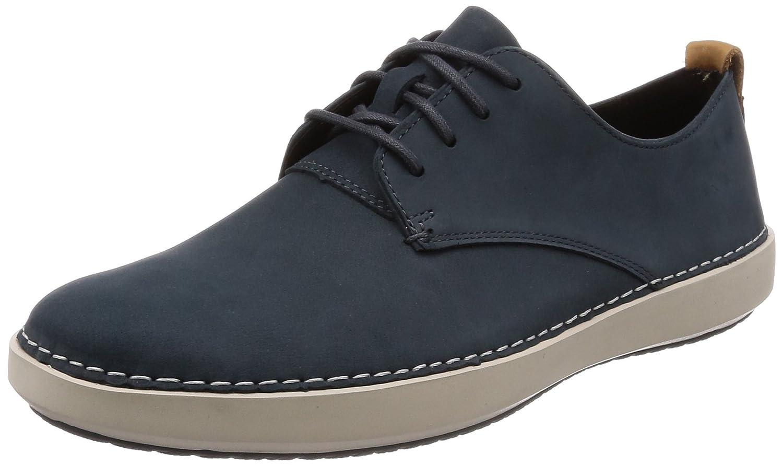 Clarks Komuter Walk, Zapatos de Cordones Derby para Hombre 42 EU|Azul (Blue Combi)