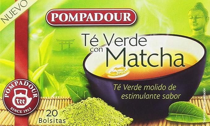 Pompadour Té Verde con Matcha - Pack de 5 x 20 Bolsitas: Amazon.es ...