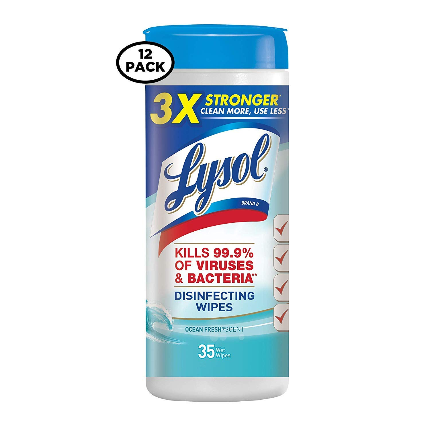 Lysol Disinfecting Wipes、海洋Fresh、35 Count (Pack of 12 ) B01M708KYE