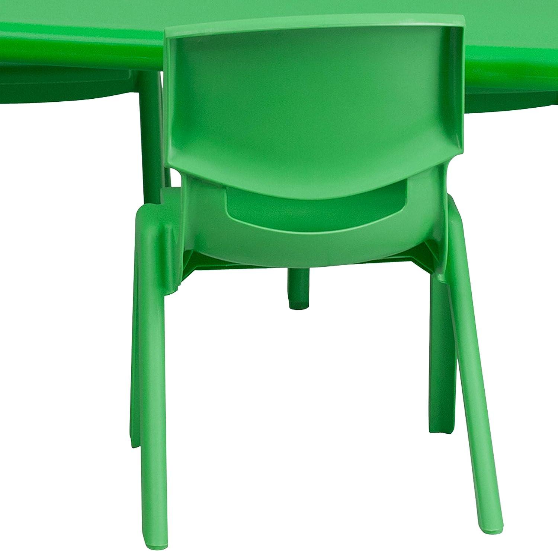 Preschool Table 24/'/'W x 48/'/'L Height Adjustable Blue Plastic Activity Table