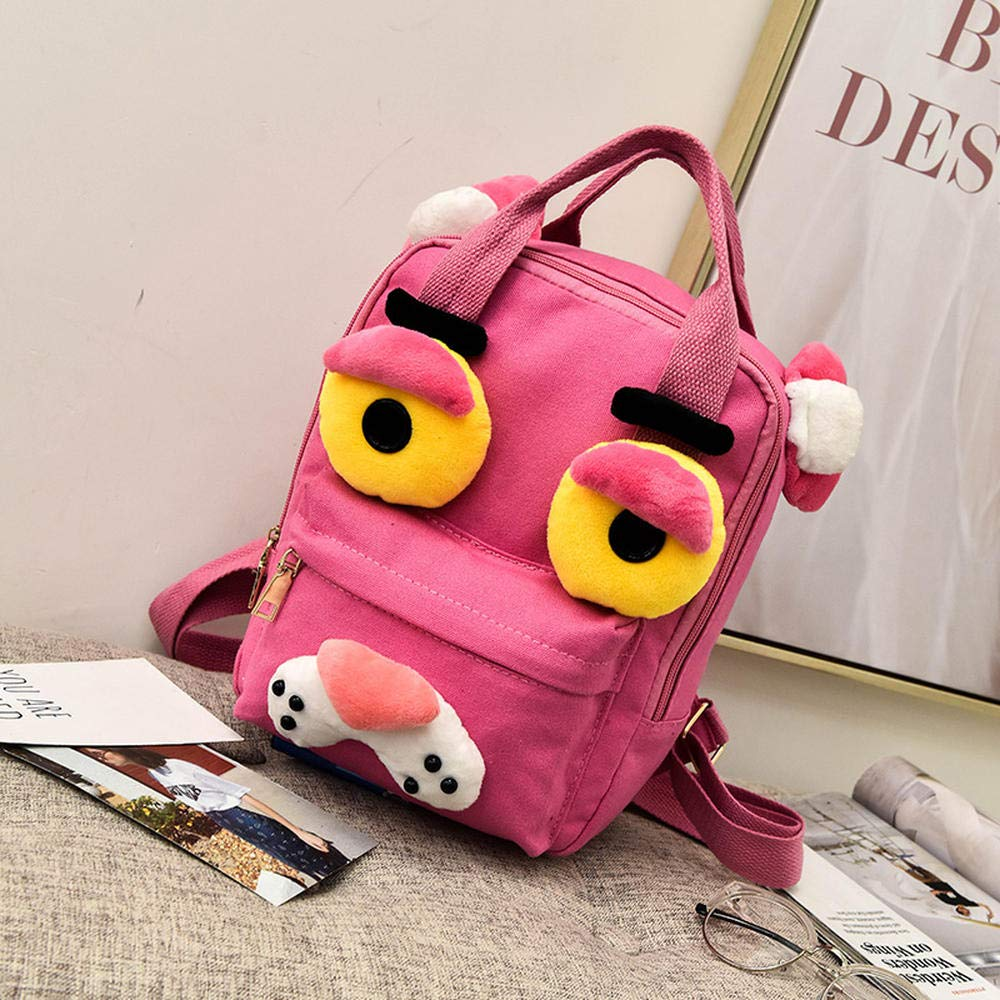 Pink Panther [Medium] CYCY Bag female Korean version ulzzang student campus backpack cartoon cute monster cute canvas backpack single eye frog [large]